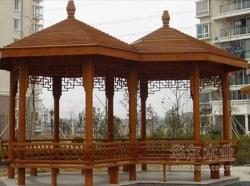青岛大连木制品制作 防腐木制作  凉亭